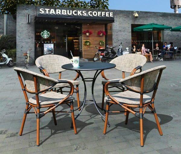 GHẾ CAFE NGOÀI TRỜI STARBUCK10/10