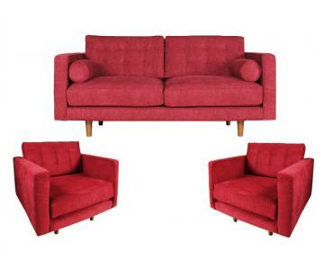 Bộ sofa vải 3 món Casaredo Athens cao cấp AB6173