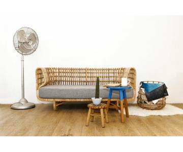 Sofa Mây Nệm Bọc Vải Cao Cấp