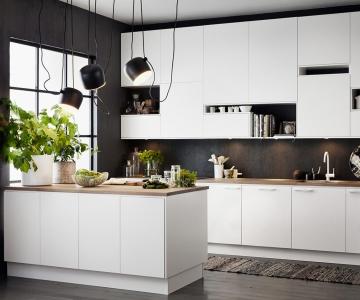 Mẫu đèn treo thả tinh tế cho không gian bếp