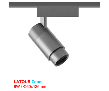 Đèn rọi ray - Đế Latour zoom 9w - TSL060T