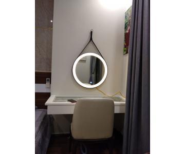 Gương đèn LED dây da
