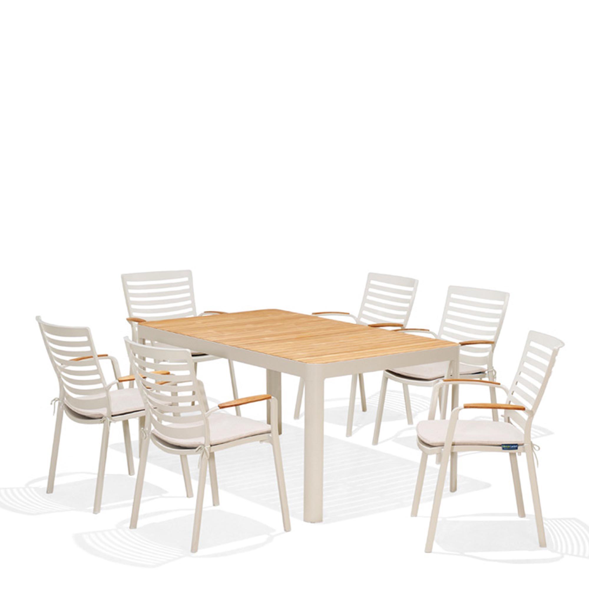 Bộ bàn ghế ngoài trời Portals 6 seater dining set 1/2