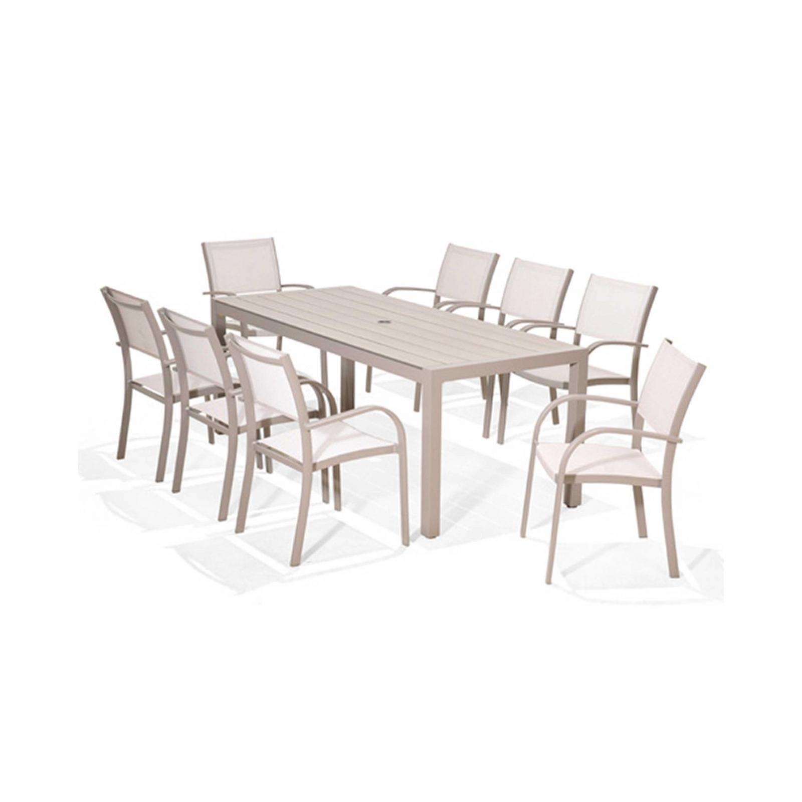 Bộ bàn ghế ngoài trời 8 ghế2/4
