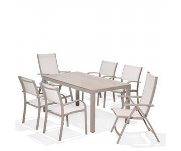 Bộ bàn ghế ngoài trời Morella 8 seater set