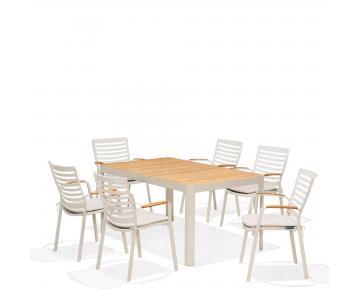 Bộ bàn ghế ngoài trời Portals 6 seater dining set