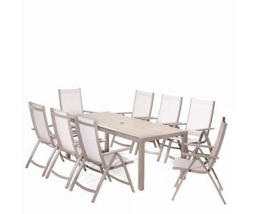 Bộ bàn ghế ngoài trời 8 ghế