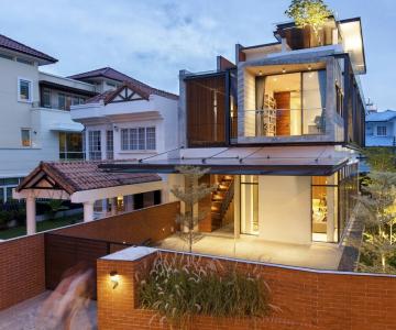 Một thiết kế nhà lô đột phá và ấn tượng tại singapore
