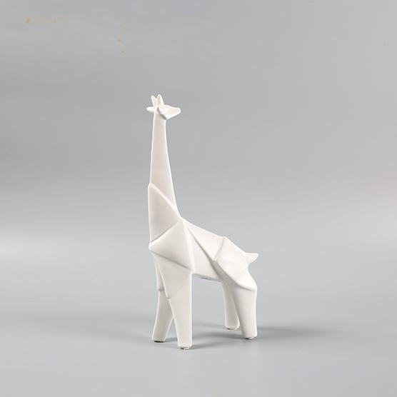Tượng Hươu cao cổ gốm Origami1/1