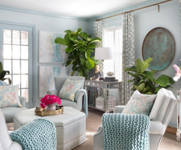 Những mẫu phòng khách vừa xanh vừa đẹp