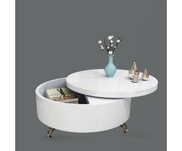 Bàn Sofa tròn - Mặt bàn xoay