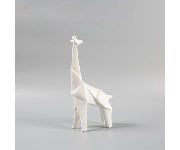 Tượng Hươu cao cổ gốm Origami