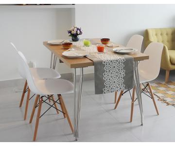 Bộ bàn ăn Max + 4 ghế Dura cao cấp3/8