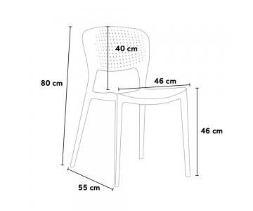 Bộ bàn ăn Max + 4 ghế Dura cao cấp6/8