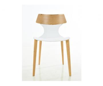 Ghế nhựa chân gỗ sồi cao cấp Delux