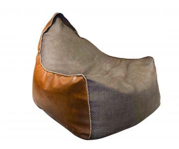Ghế lười bọc vải và simili Vintage Streamy