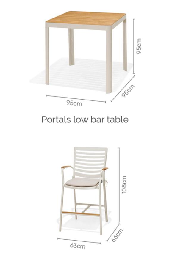 Portals 4 seater bar set 2/4