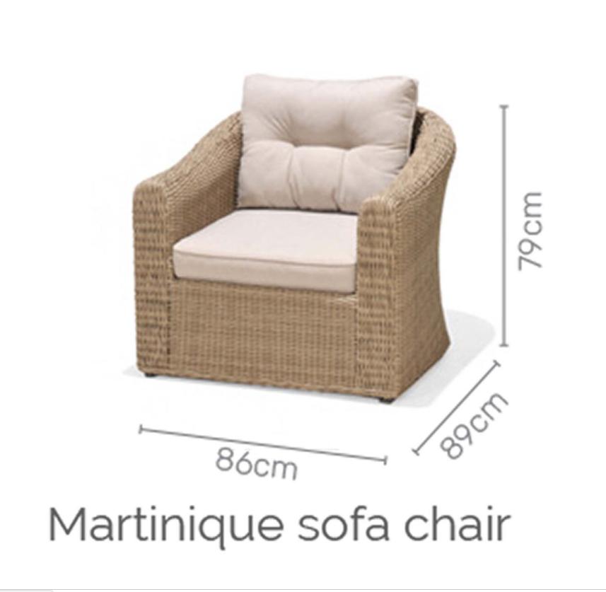 Martinique sofa deluxe set 2/8