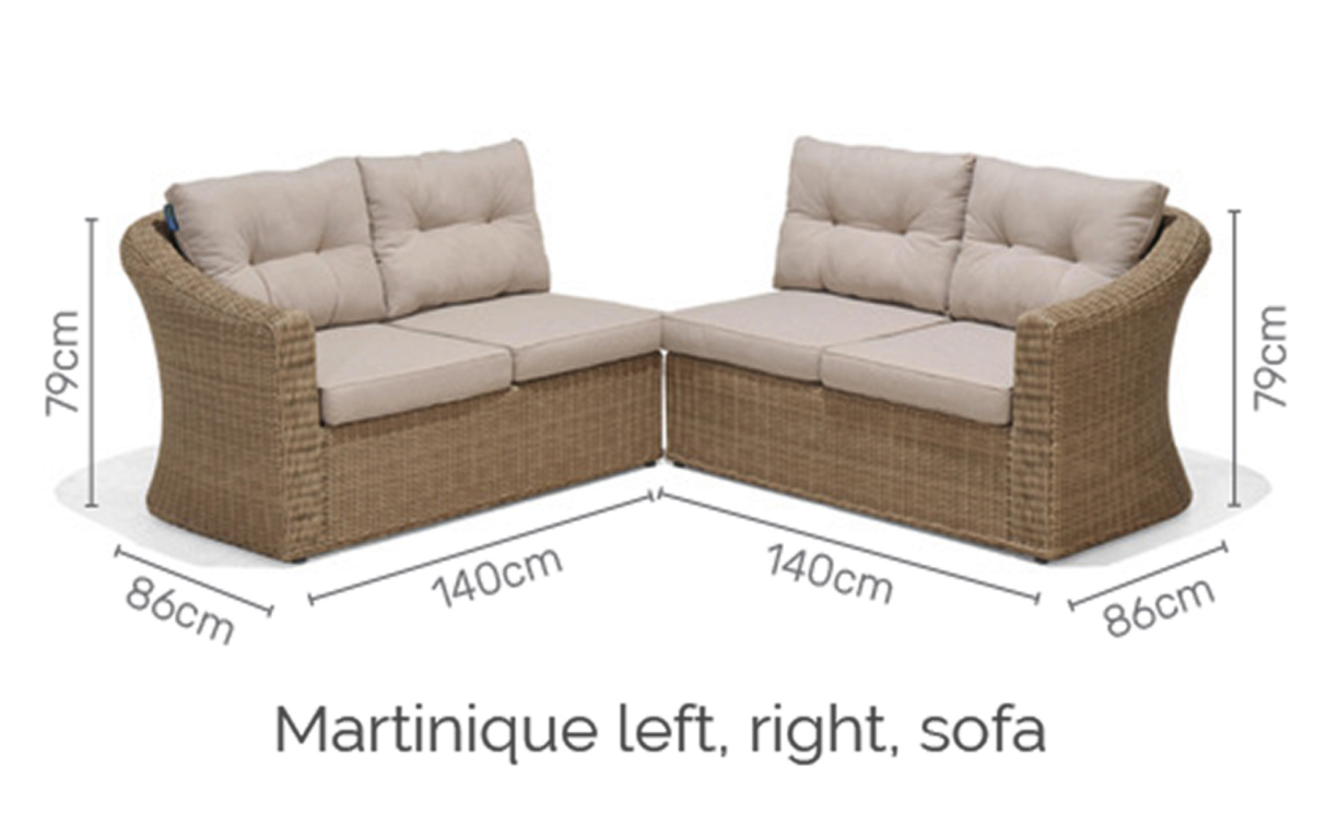 Martinique sofa deluxe set 6/8