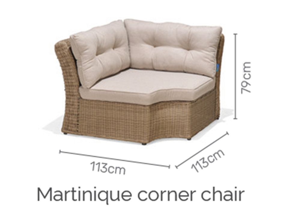 Martinique sofa deluxe set 4/8