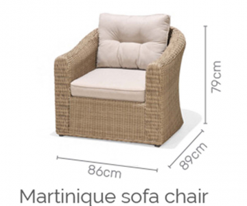 Martinique sofa deluxe set 2/8