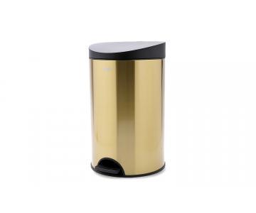Thùng rác Đạp tròn nhỏ / Gold