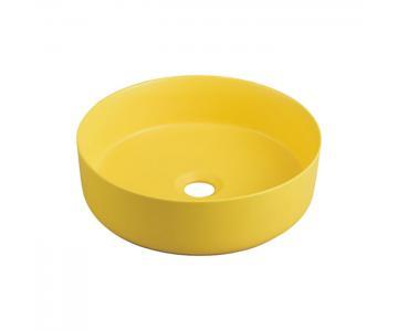 Chậu sứ màu - lavabo sứ màu vàng Kanly SU524