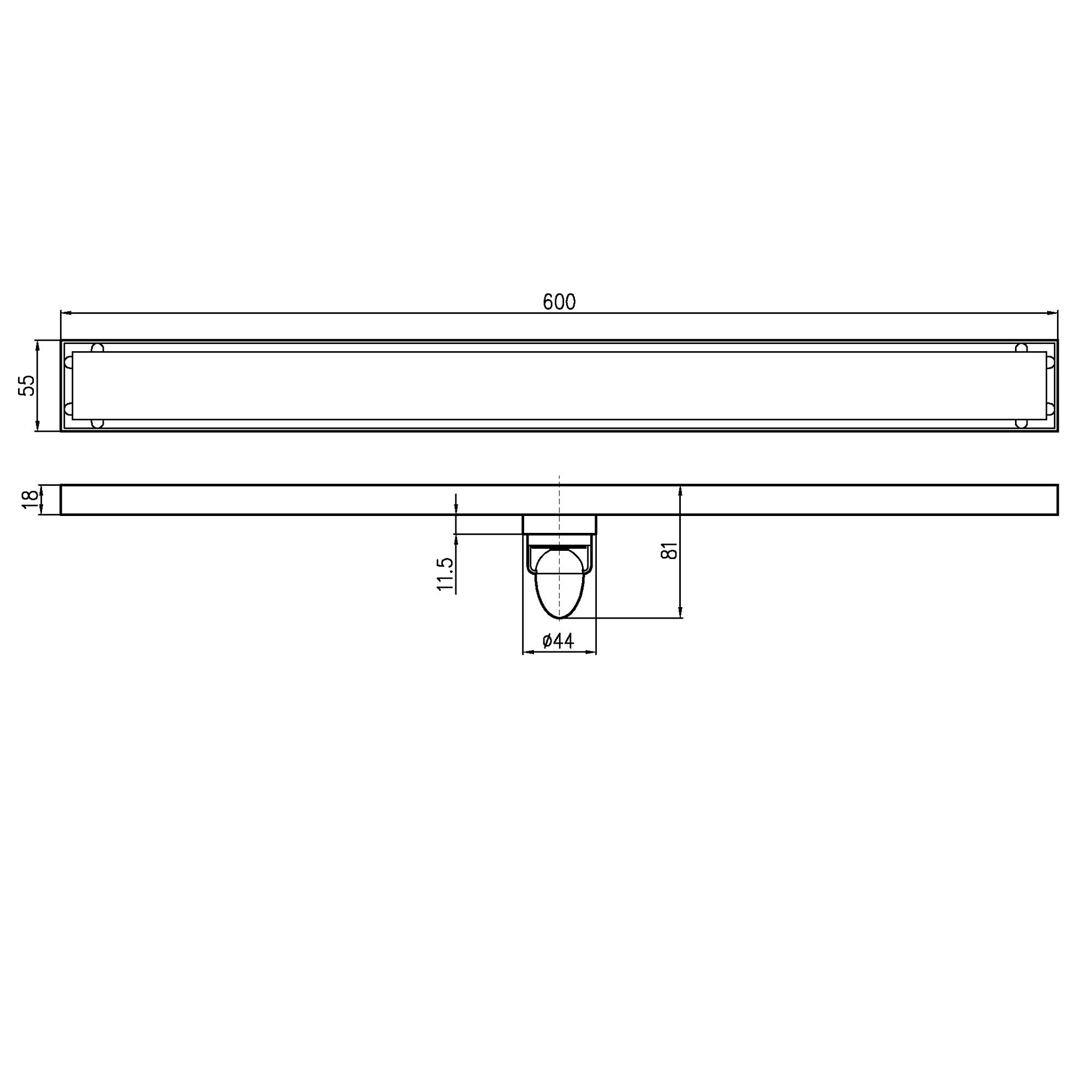 Phễu thoát sàn dài ngăn mùi Magdrain JXC600Q6-B2/4