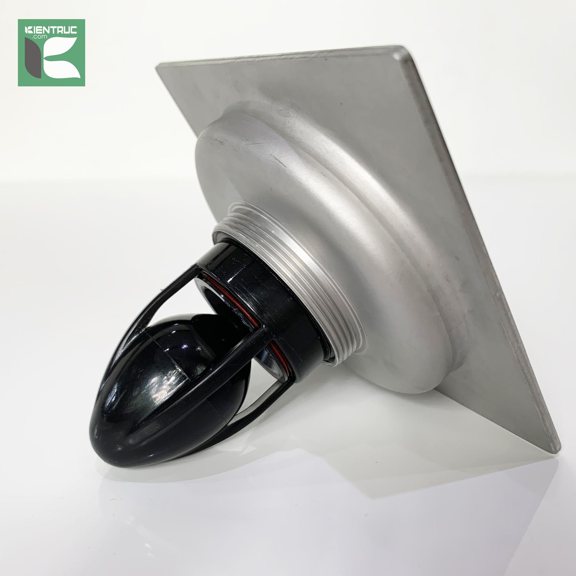 Phễu thoát sàn chống mùi inox304 mờ Magdrain PC30Q3-B7/12