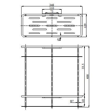 KỆ INOX 2 TẦNG BN 7202/2