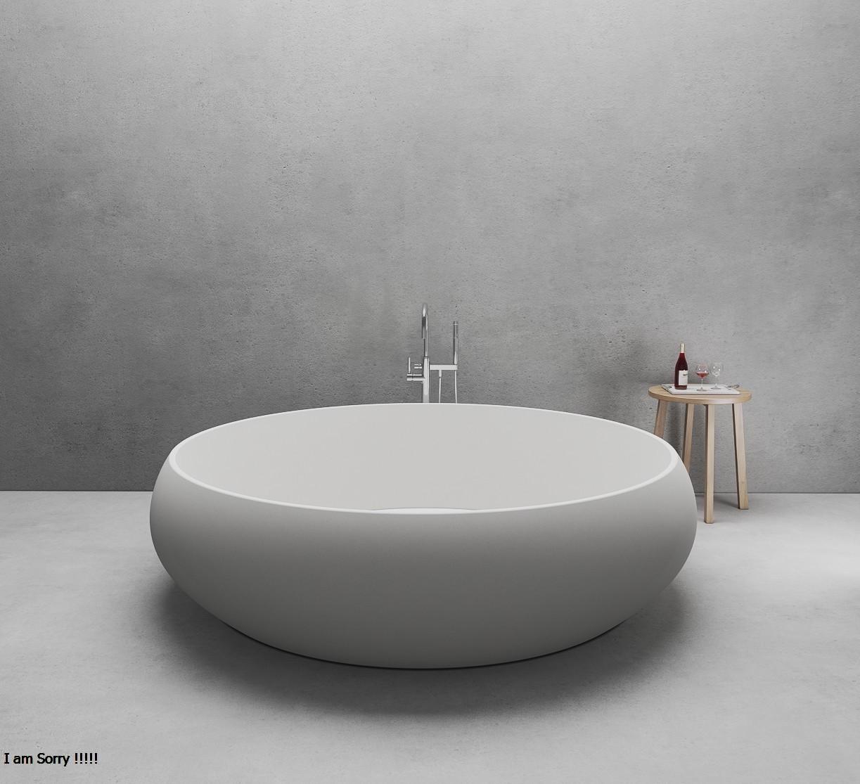 Bồn tắm tròn độc lập đá nhân tạo DR091/2