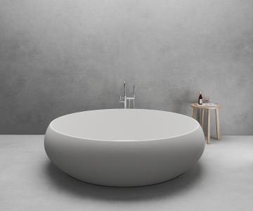 Bồn tắm tròn độc lập đá nhân tạo DR09