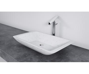 Chậu rửa lavabo Solid Surface trắng