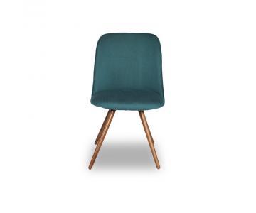 Ghế ăn Daria bọc vải nhung xanh