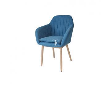 Ghế ăn bọc vải Samba lót nệm chân sắt giả gỗ