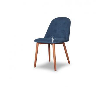 Ghế ăn bọc vải Look chân sắt giả gỗ