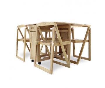 Bộ bàn ăn 4 ghế xếp gọn thông minh EKO mới