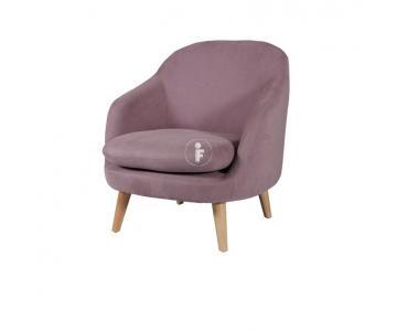 Ghế sofa đơn bọc vải chân gỗ sồi Orinoco