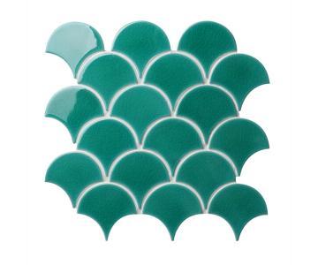 Gạch trang trí mosaic vảy cá Crackle CZB718X