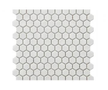 Gạch Mosaic Hexagon 23 mm Black White