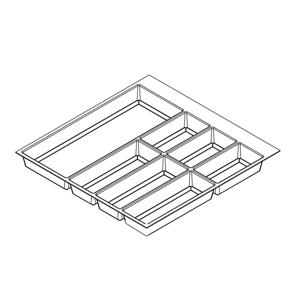 Khay chia classico xám-trắng cho tủ kéo bếp6/6