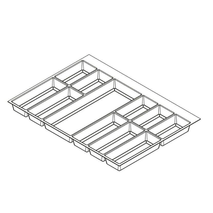 Khay chia classico xám-trắng cho tủ kéo bếp5/6