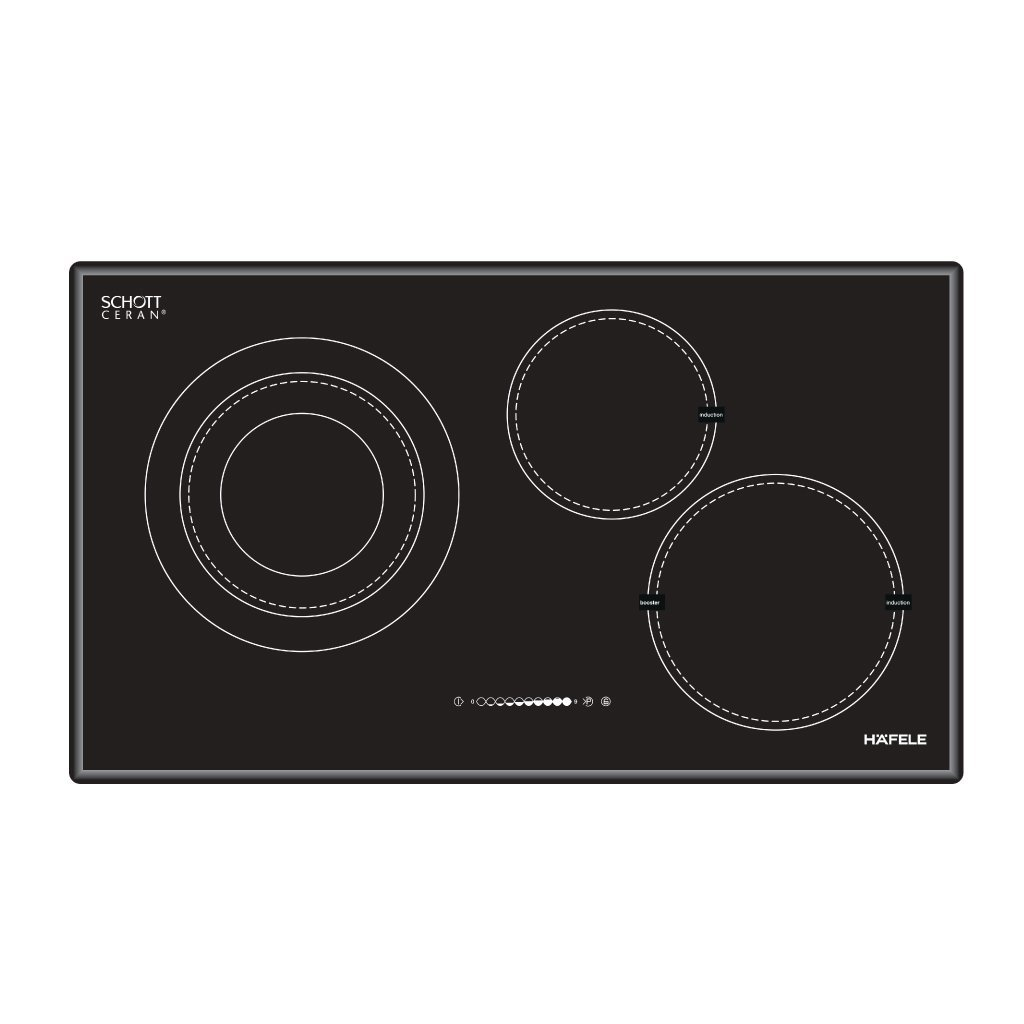 Bếp từ kết hợp điện 3 vùng nấu HC-M773A1/3