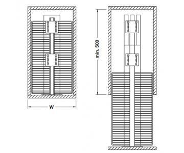 Bộ rổ kéo tủ cao đựng đồ khô Hafele548.93.1332/2