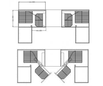 Bộ rổ góc inox 304 Hafele 548.21.002 mở phải2/2