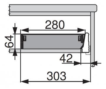 Khay chia đũa muỗng Orga-line Blum cho ngăn kéo ZSI.500BI3