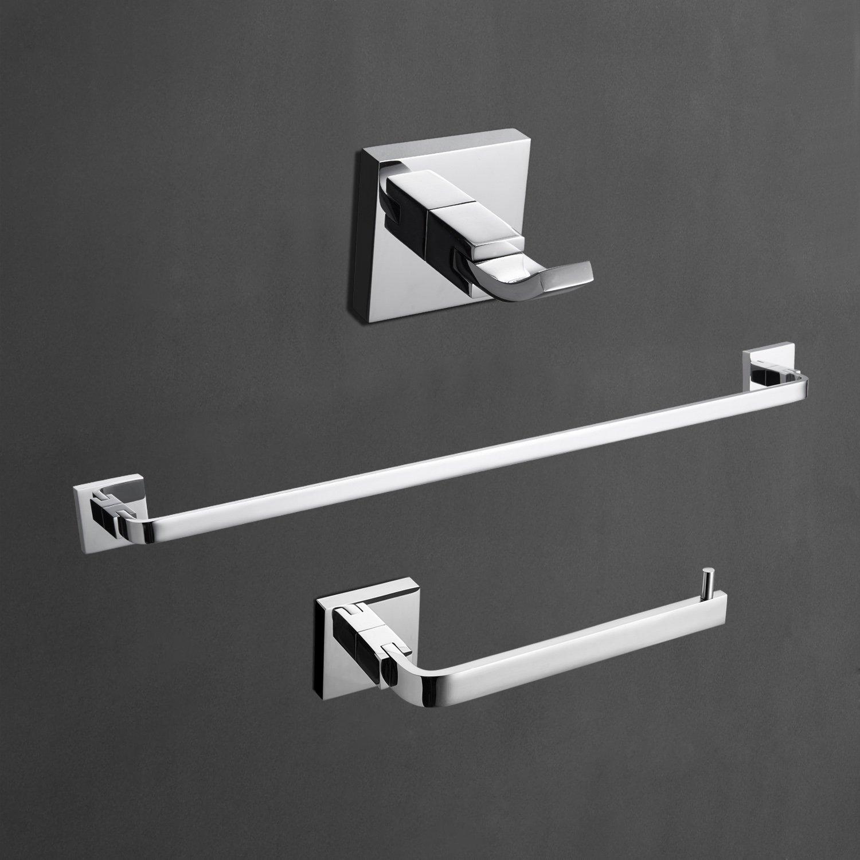 Bộ 3 Thanh Treo Khăn Tắm Mạ Chrome Bóng | Bathroom Hook1/7