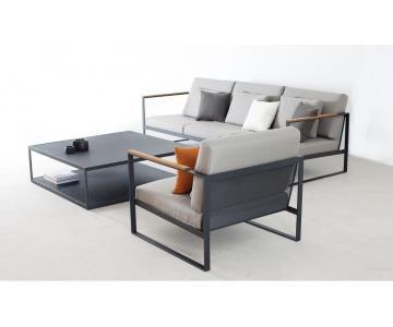Sofa Góc Bọc Vải Chân Sắt Sơn Tĩnh Điện