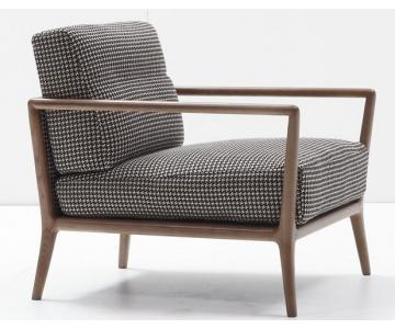 Sofa Đơn Đọc Sách Bọc Vải Khung Gỗ Tần Bì | Armchair