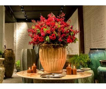Bình hoa trang trí gốm đất nung xuất khẩu